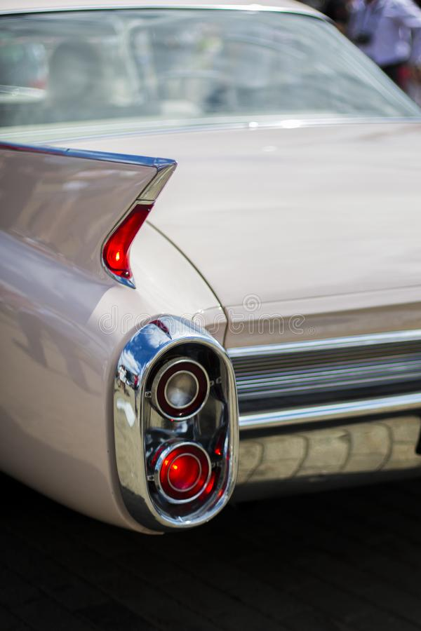 Rear stop light of old american car royalty free stock photo
