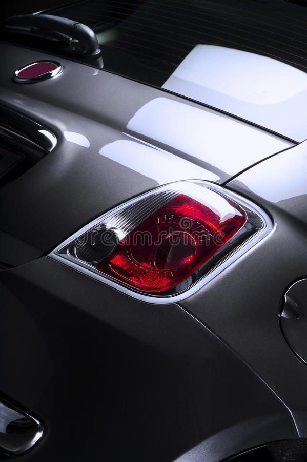 Rear taillight of a car stock photography