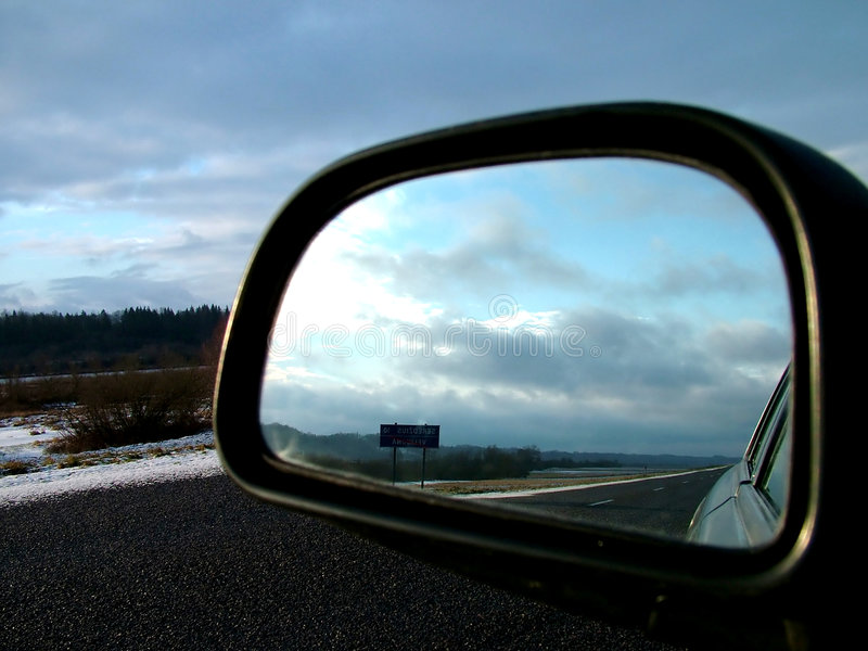 Download Rear view stock photo. Image of reflection, rearview, fall - 81544
