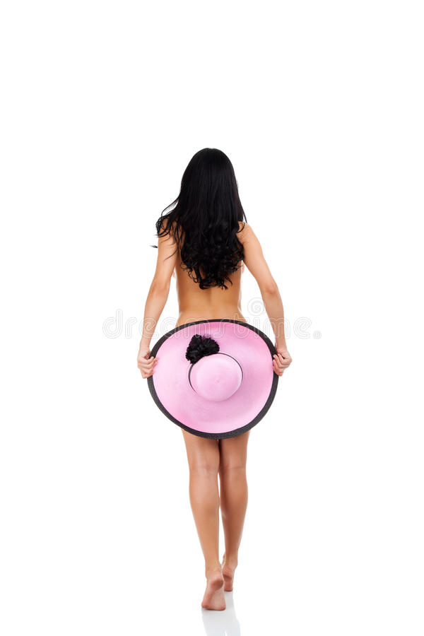 Download Rear View Back Of Young Beautiful Woman Brunette Stock Image - Image: 25835041