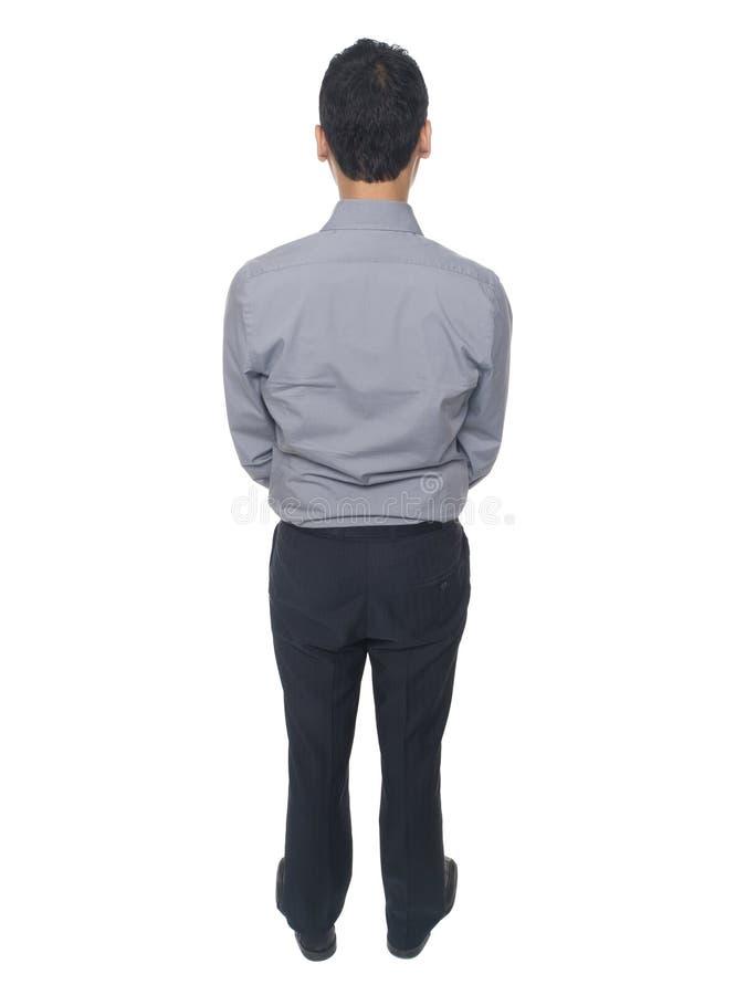 Rear view of businessman stock photos