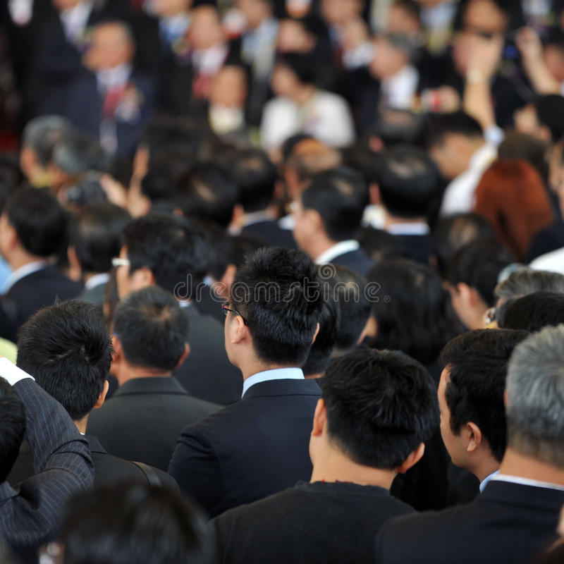 Rear view of businessmen stock photos