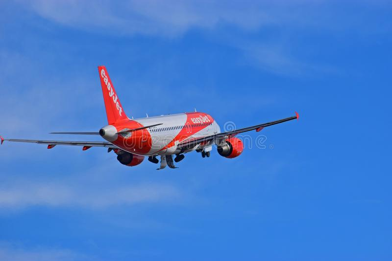 Rear View Of Easyjet Plane stock photo