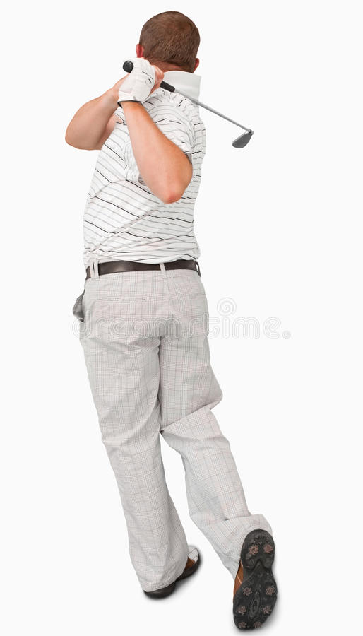 Download Rear view of golfer stock photo. Image of mature, driver - 25336386