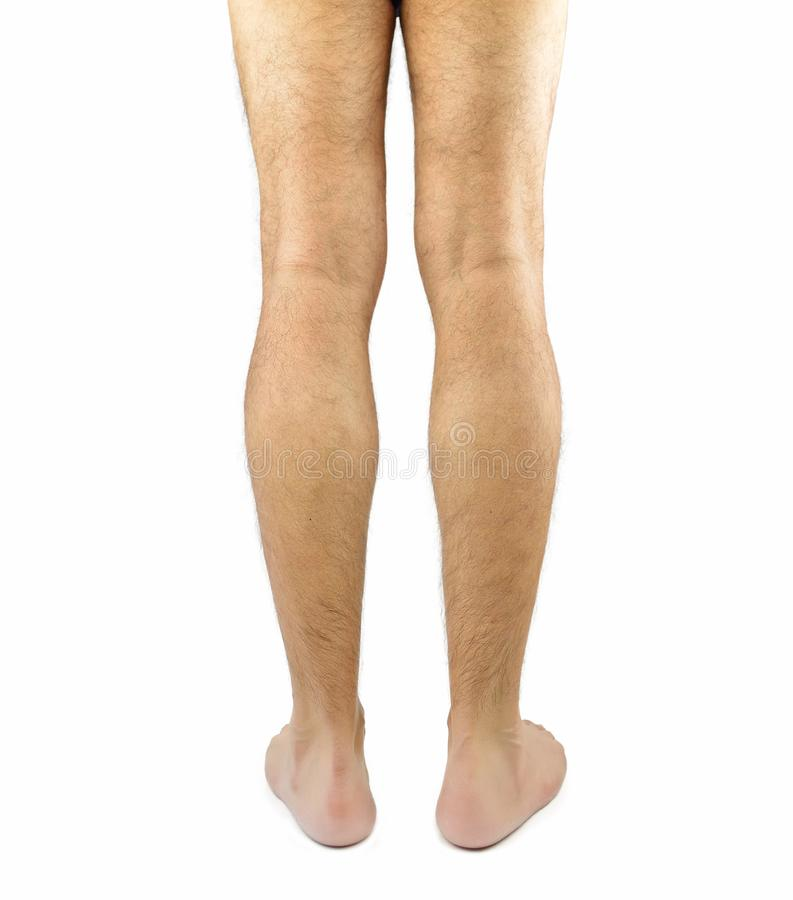Rear view of a man legs royalty free stock photo