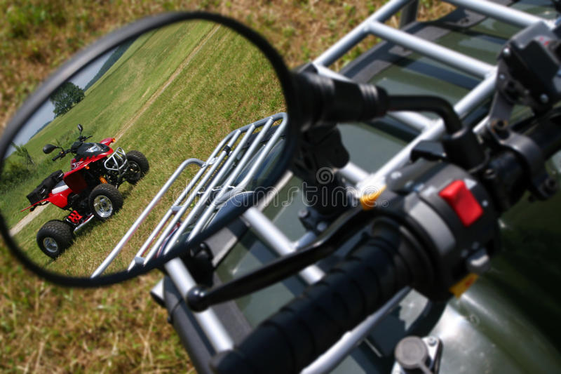 Rear view mirror stock image