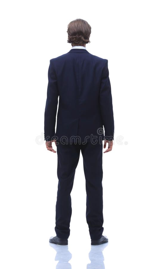 Rear view. a modern businessman. stock images