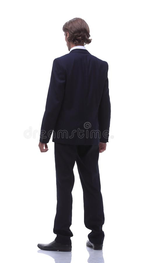 Rear view.a modern businessman. royalty free stock image