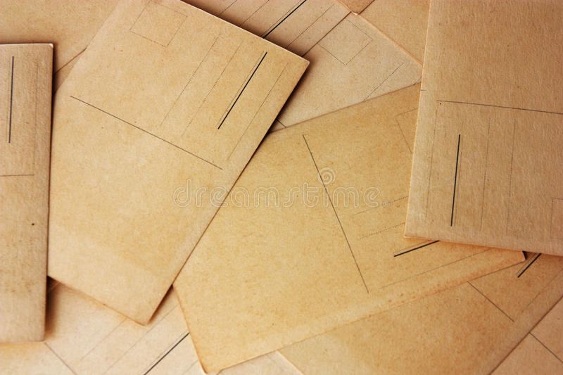 Rear view of post cards. As background royalty free stock photo