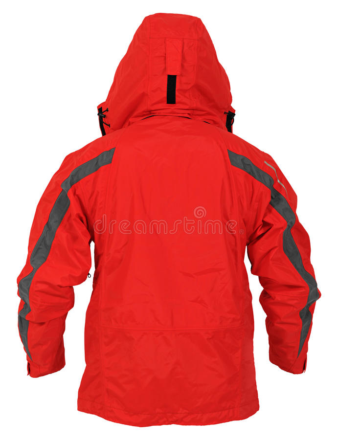 Rear View Of Red Sport Jacket Royalty Free Stock Images