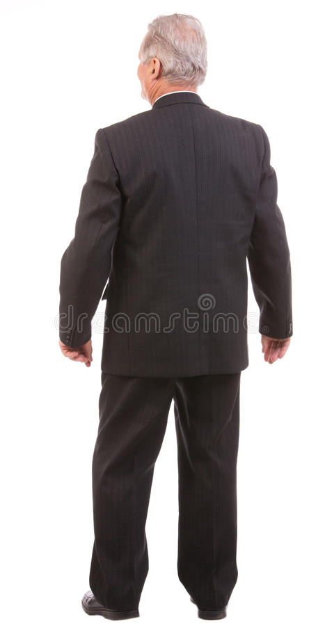 Rear view of a senior business man royalty free stock photos