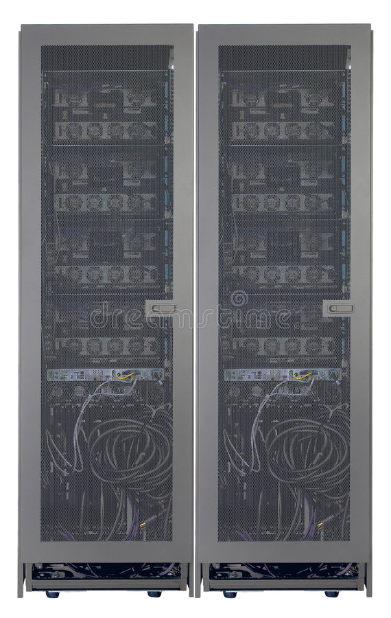 Rear View of servers stock image