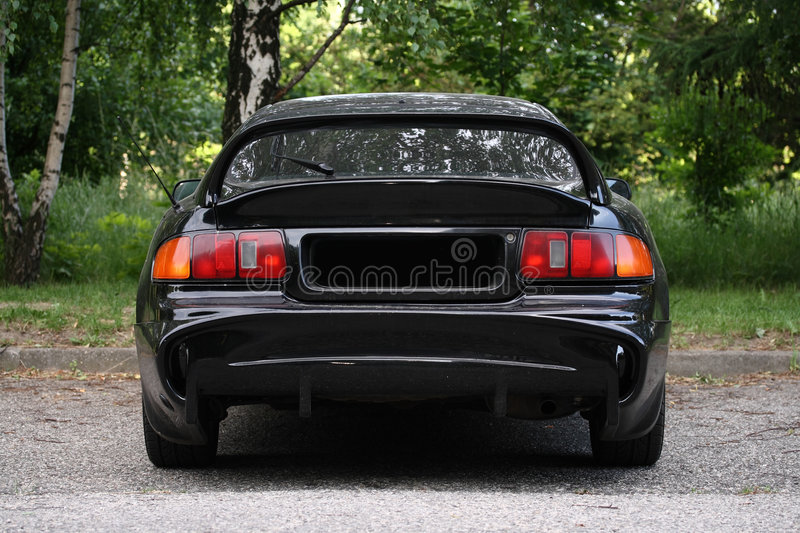 Rear view of a sport car royalty free stock images