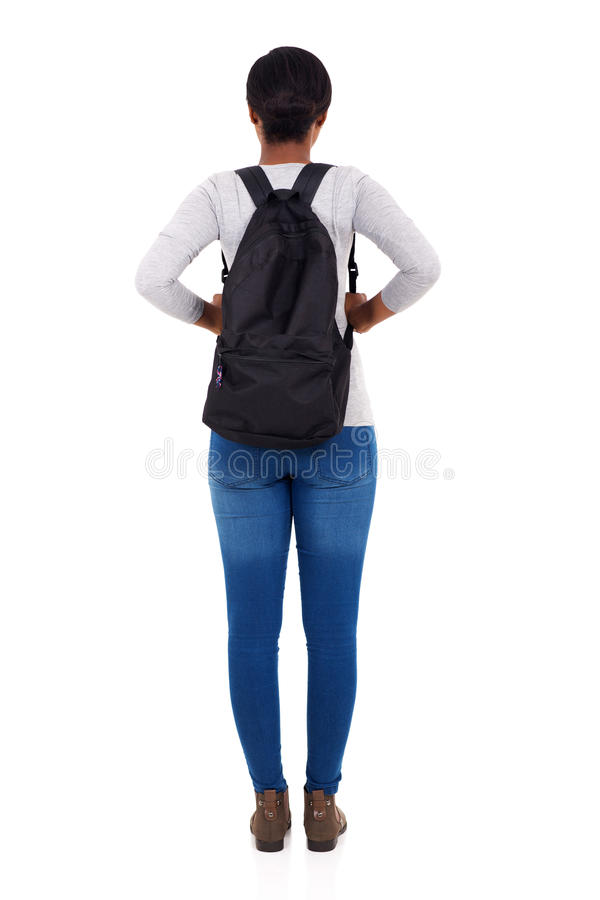 rear view student royalty free stock images