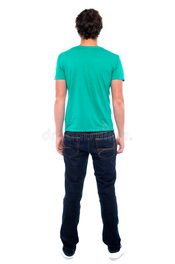 Rear View Of Teen Guy In Casuals Royalty Free Stock Photography
