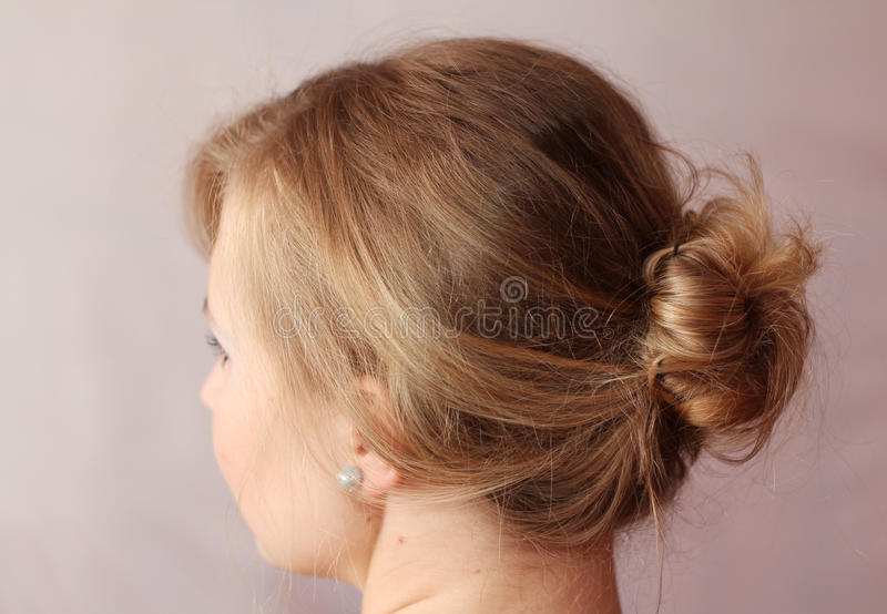 Download Rear View of Woman stock photo. Image of back, blond - 25746008