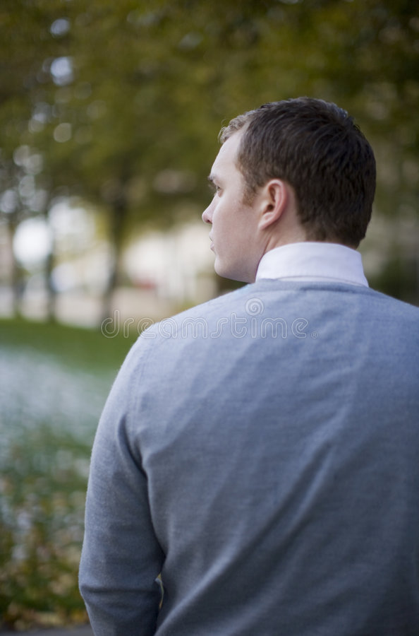 Rear view of young man royalty free stock photos