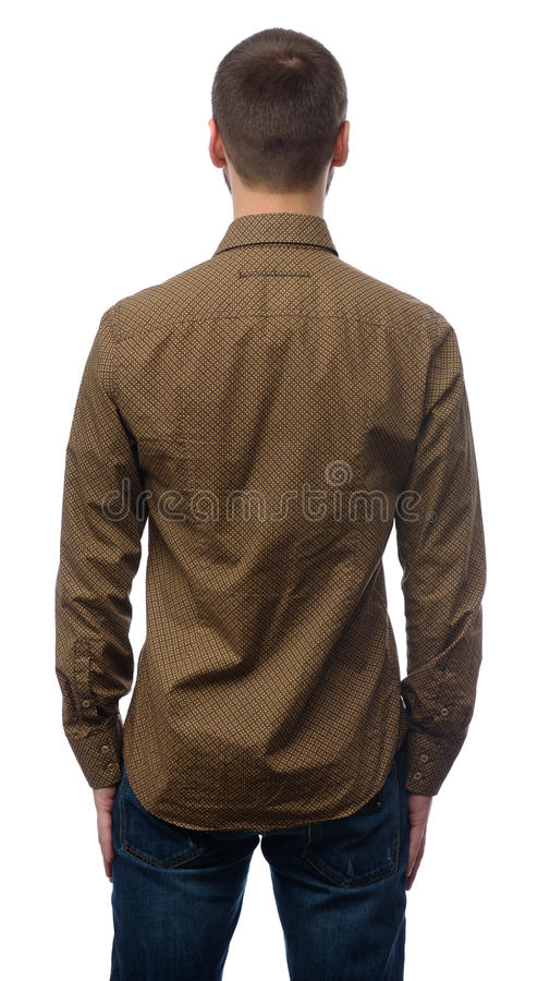 Rear view of young man looking away royalty free stock image