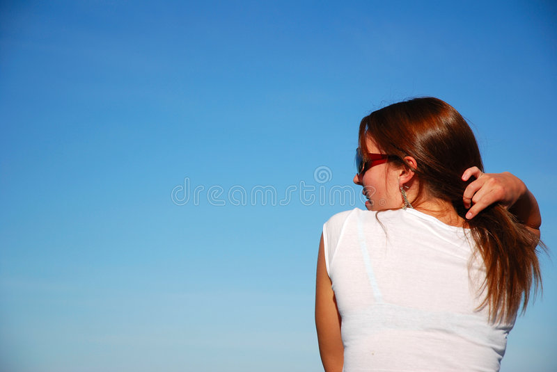 Rear View Of Young Woman Royalty Free Stock Photos