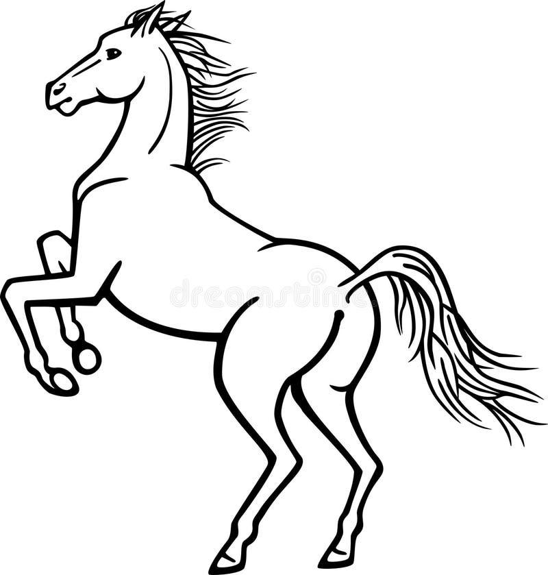 Rearing Horse royalty free illustration