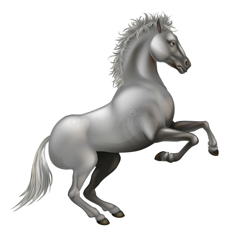 Download Rearing White Horse Royalty Free Stock Photography - Image: 26296817