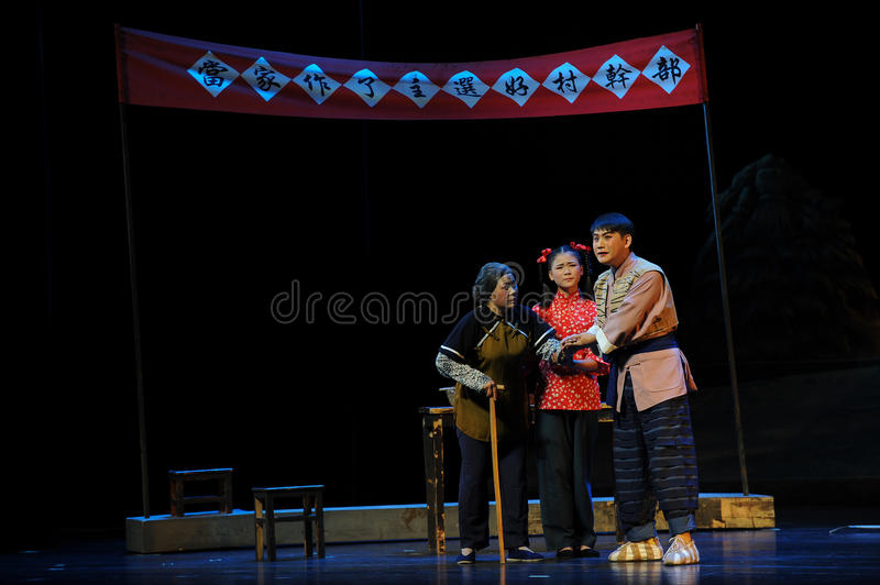 Reassure the people- Jiangxi opera a steelyard. Jiangxi opera a steelyard is adapted from a true story: the last century fortys, the protagonists father runs an stock photos