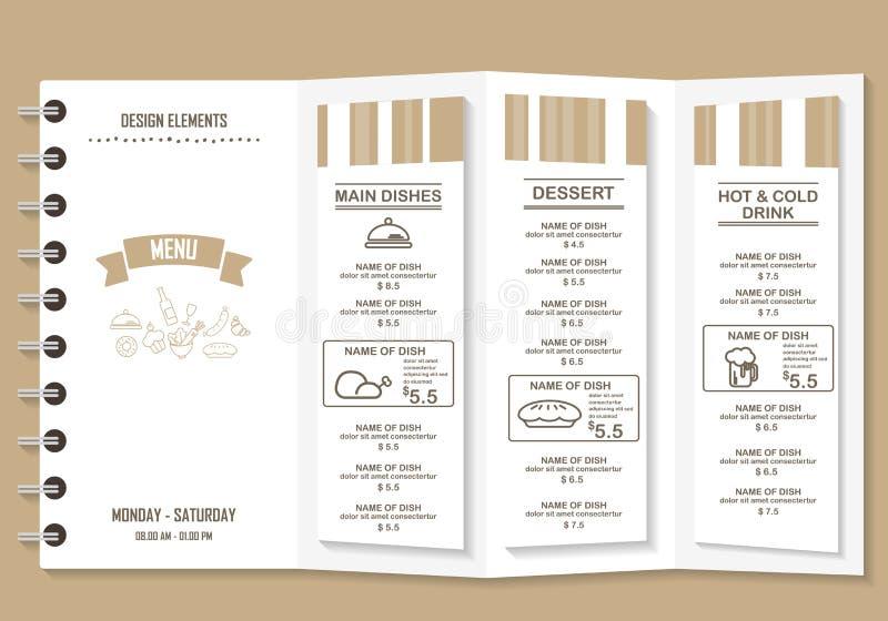 Reataurant menu vector illustration