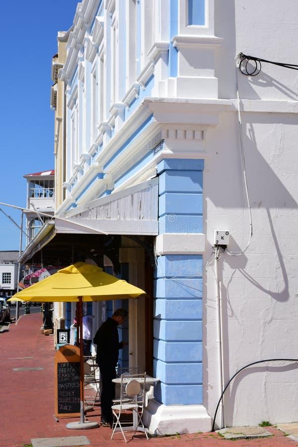 Reataurant op Havenvoorzijde, de Stad van Simon, Kaapschiereiland, Zuid-Afrika royalty-vrije stock afbeelding
