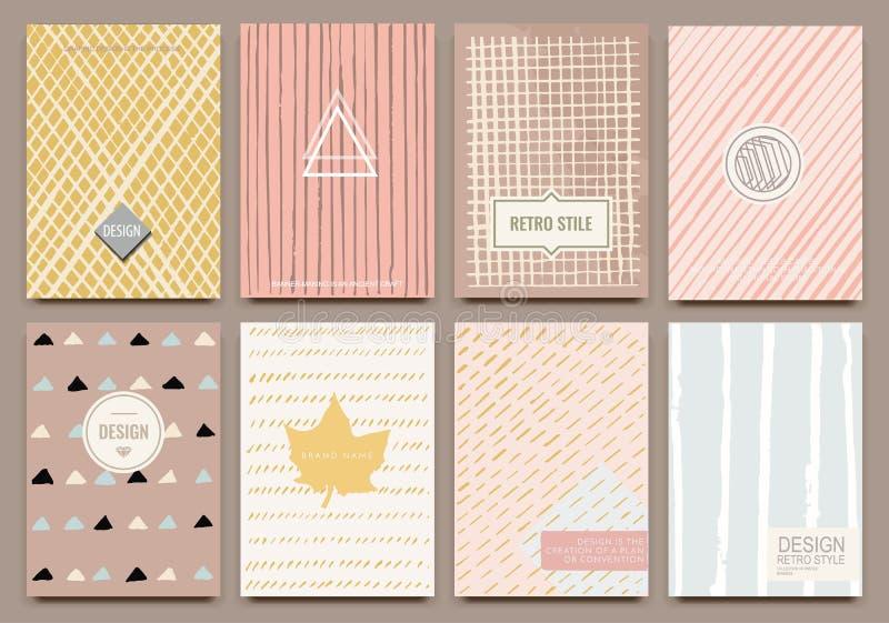 reative mallvektorkort stock illustrationer