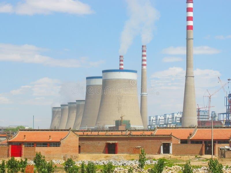 Reator nuclear foto de stock