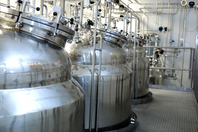 Reatores das suspensões e das soluções Fabricação de pharmaceut imagens de stock