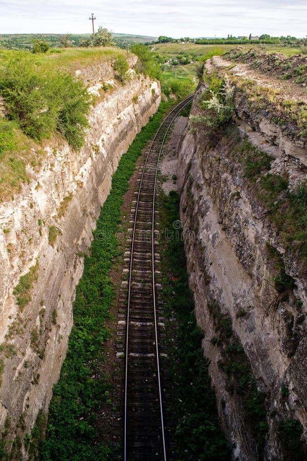 Rebaixo Railway imagens de stock