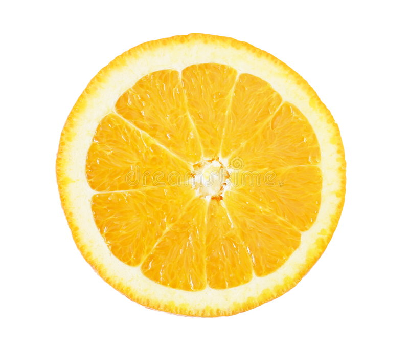 Rebanada anaranjada foto de archivo