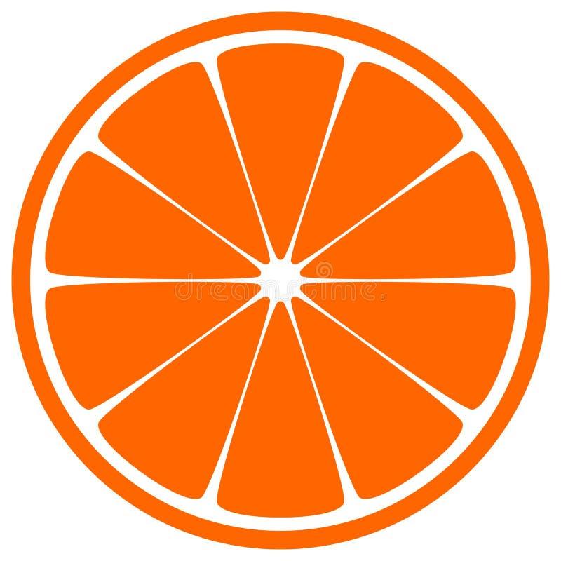Rebanada anaranjada stock de ilustración