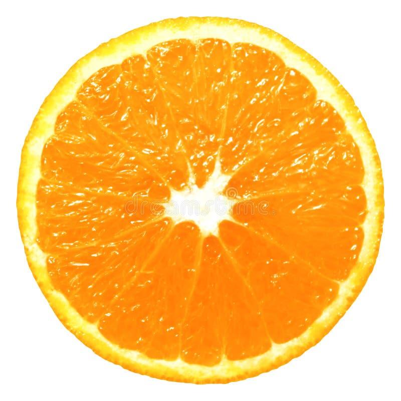 Rebanada anaranjada aislada foto de archivo
