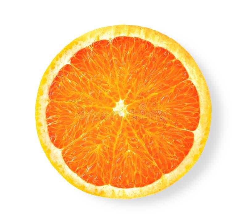 Rebanada anaranjada aislada en el fondo blanco Trayectoria de recortes fotos de archivo libres de regalías