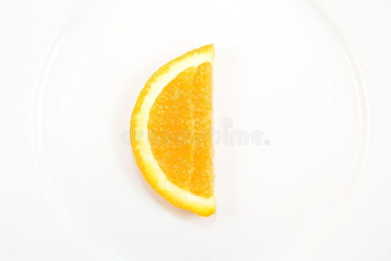 Rebanada anaranjada con dimensión de una variable de C imagenes de archivo
