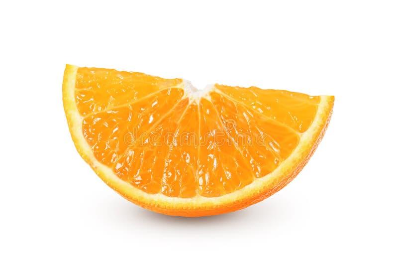 Rebanada anaranjada en el fondo blanco foto de archivo