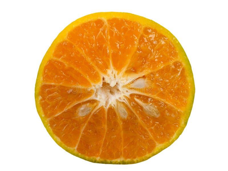 Rebanada anaranjada en el fondo blanco Trayectoria de recortes fotografía de archivo libre de regalías