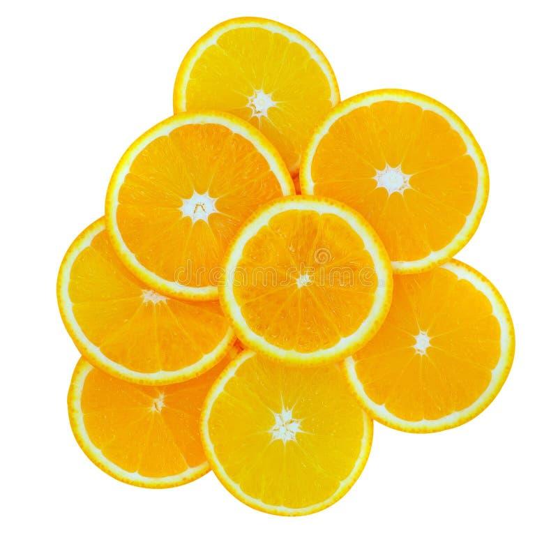 Rebanada de fruta anaranjada fotografía de archivo