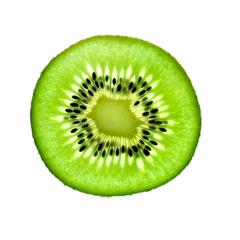 Rebanada de kiwi fotos de archivo