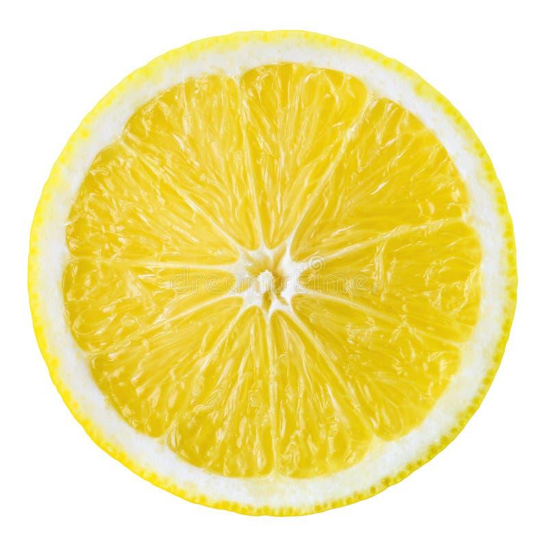 Rebanada De La Fruta Del Limón Círculo Aislado En Blanco Foto de ...