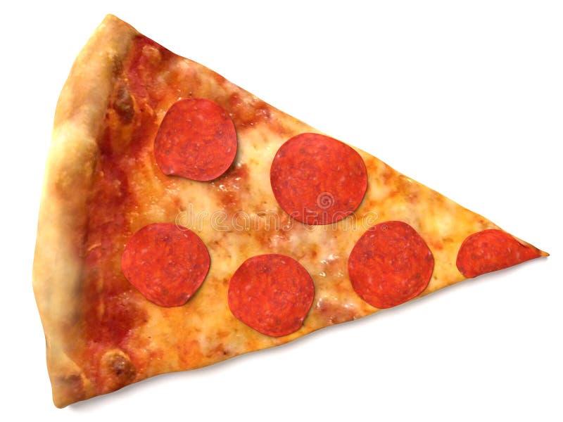 Rebanada de la pizza stock de ilustración