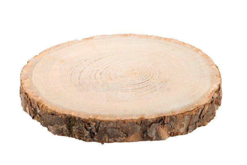 Rebanada de madera del registro imágenes de archivo libres de regalías