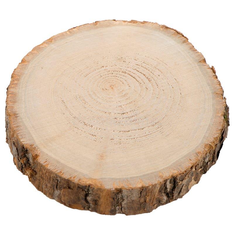 Rebanada de madera del registro imagenes de archivo