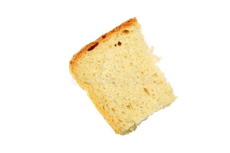 Rebanada de pan en el fondo blanco, aislada imágenes de archivo libres de regalías