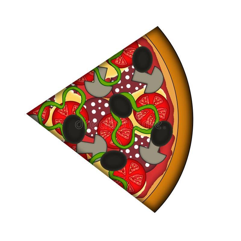 Rebanada de pizza stock de ilustración