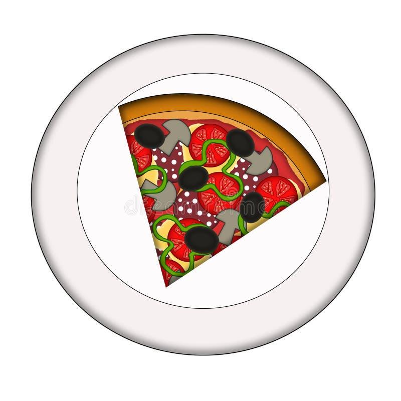 Rebanada de pizza ilustración del vector