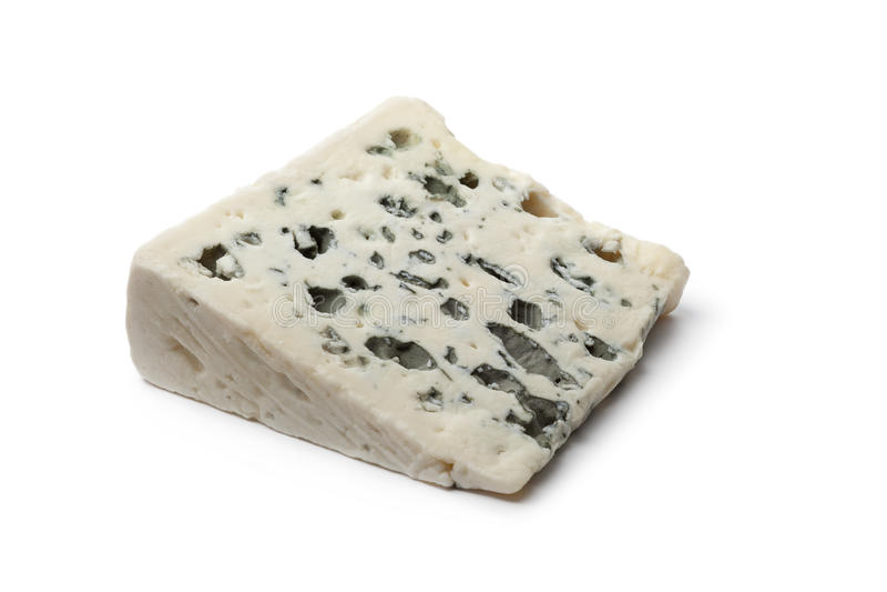 Rebanada de queso del Roquefort fotos de archivo libres de regalías