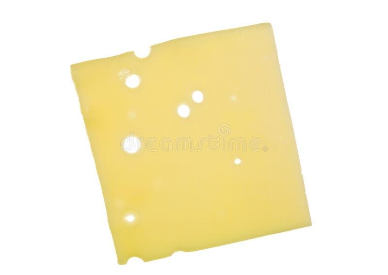 Rebanada de queso suizo fotos de archivo